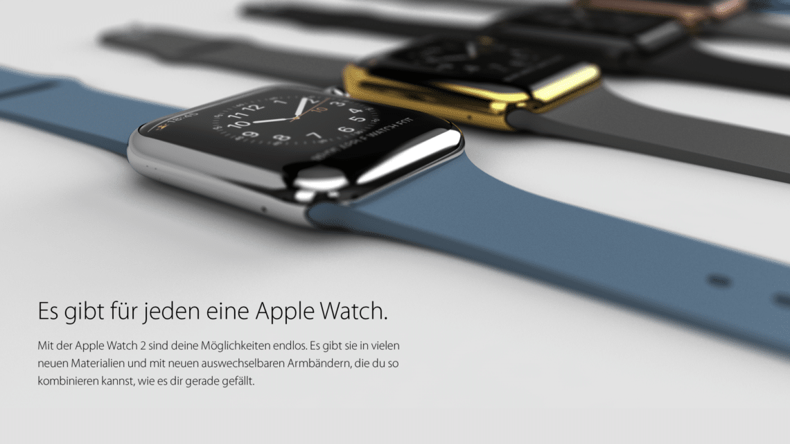Apple Watch 2 mit neuen Materialien