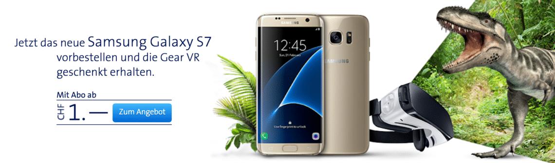 Galaxy S7 vorbestellen bei Swisscom