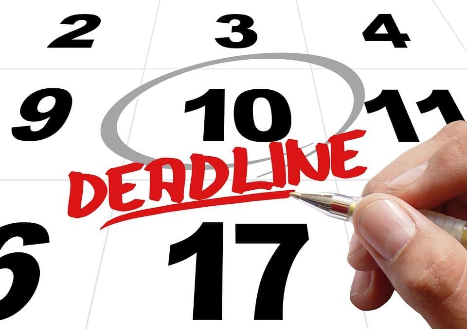 Wichtig: Deadline nicht verpassen