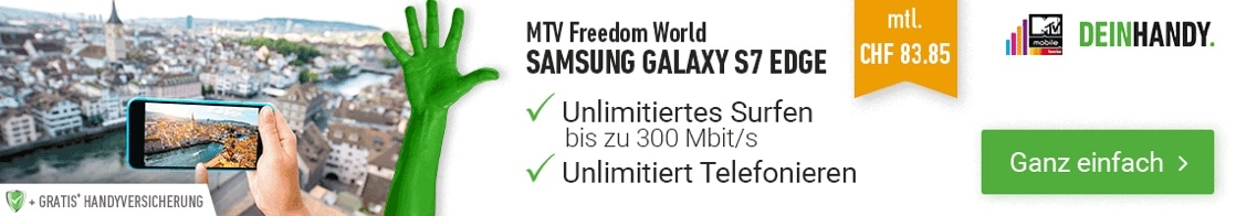 Sunrise MTV Freedom World mit Galaxy S7 Edge