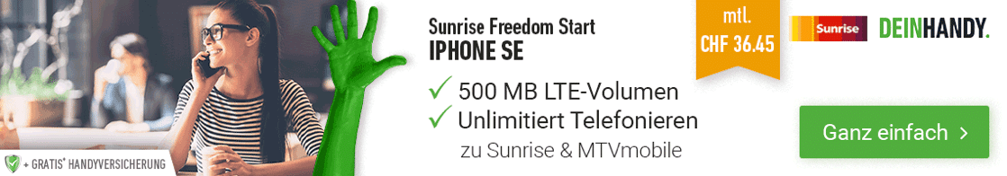 Sunrise Freedom Max mit iPhone 7