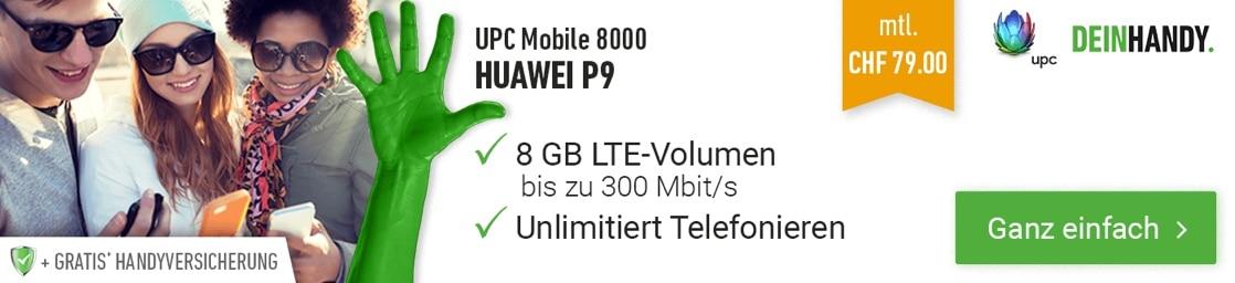 UPC Mobile 8000 mit Huawei P9
