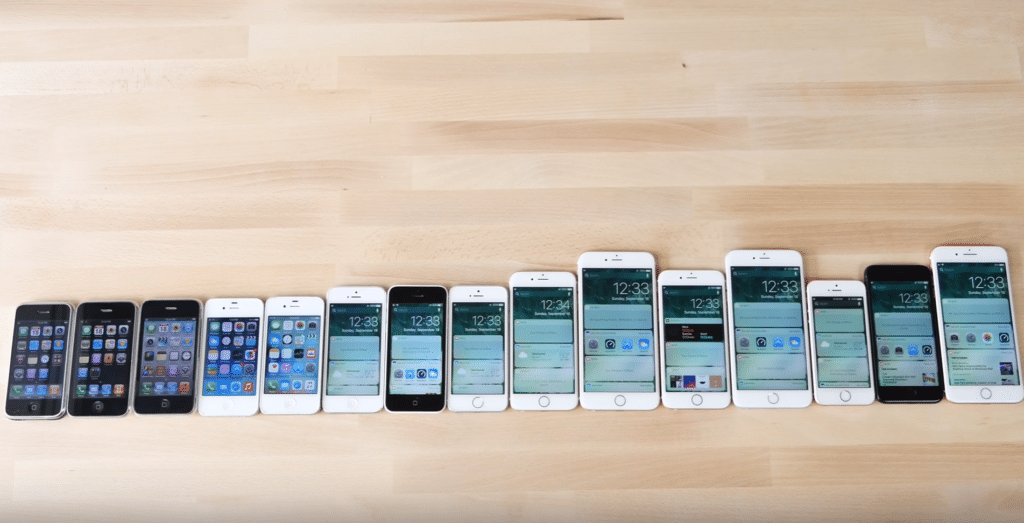 Alle iPhone Generationen im Überblick
