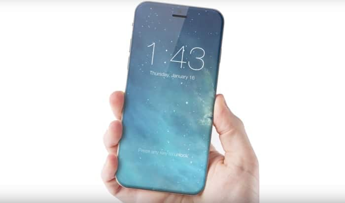 iPhone 8 Konzept mit randlosem Display