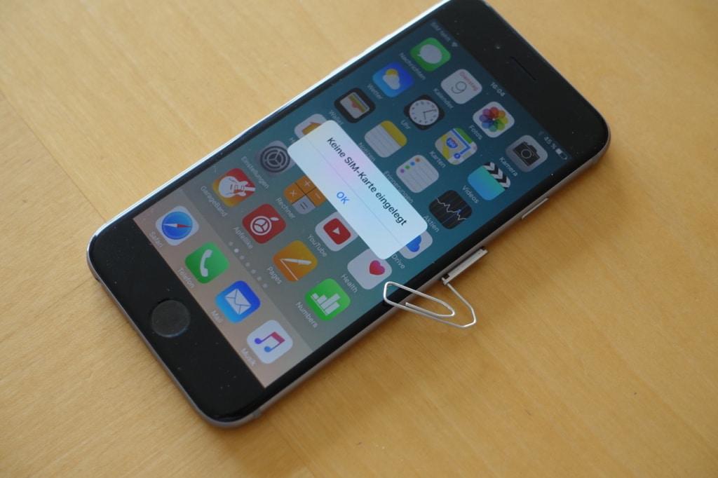 SIM Karte einlegen iPhone