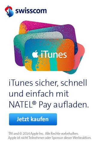 Swisscom iTunes auladen