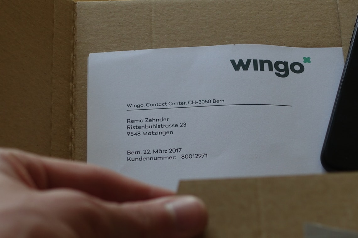 Kartonumschlag von Wingo Mobile
