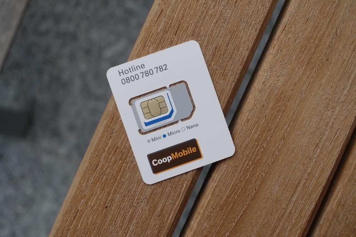 Multi SIM Karte von Coop Mobile