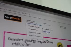 Coop Mobile Swiss Flat Webseite
