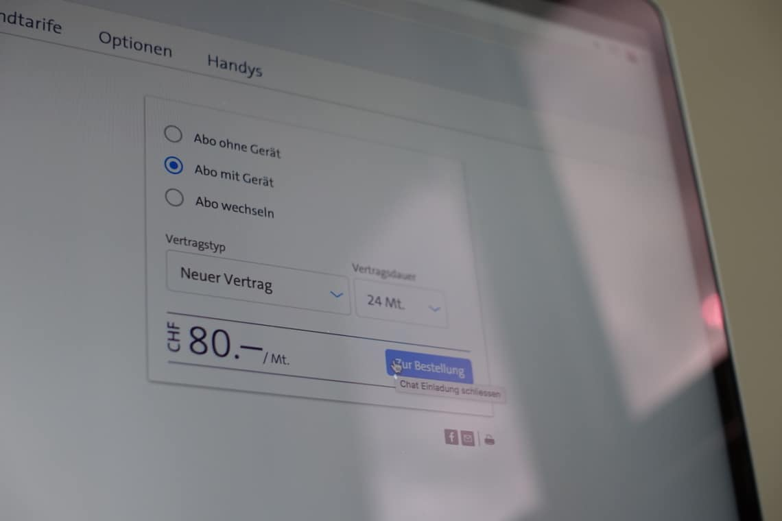 Swisscom inOne mobile Bestellung starten