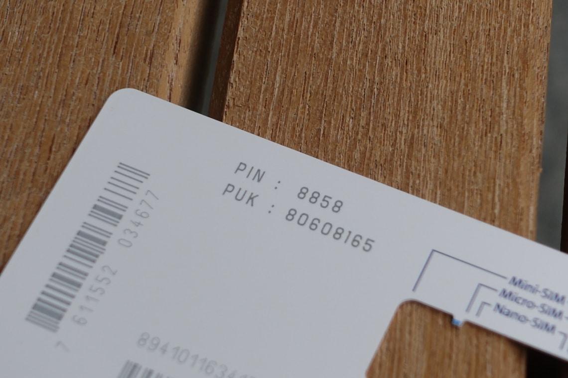 Swisscom SIM PUK Code