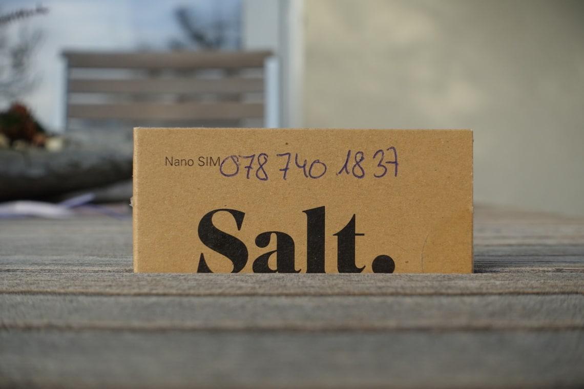 Salt SIM Verpackung