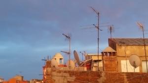 Stadt, Antennen, Mobilfunk
