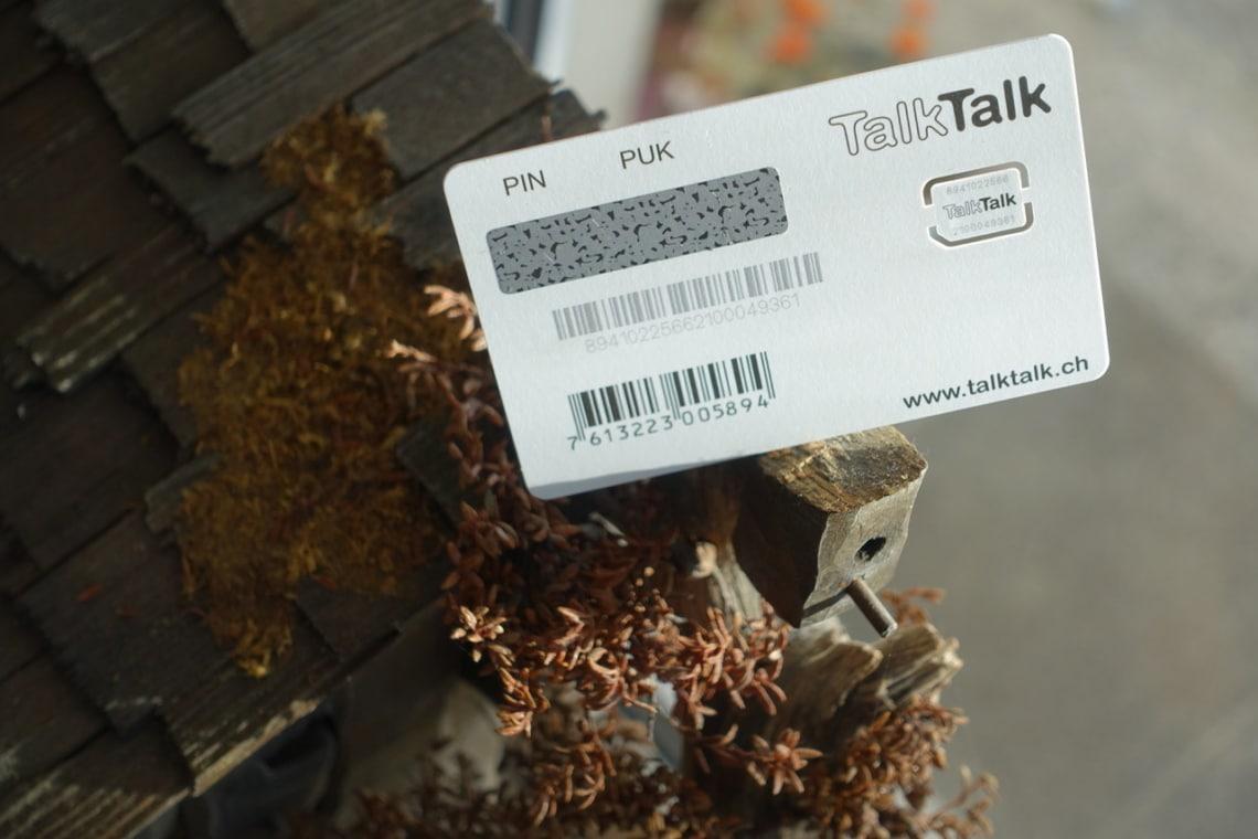TalkTalk SIM Rückseite