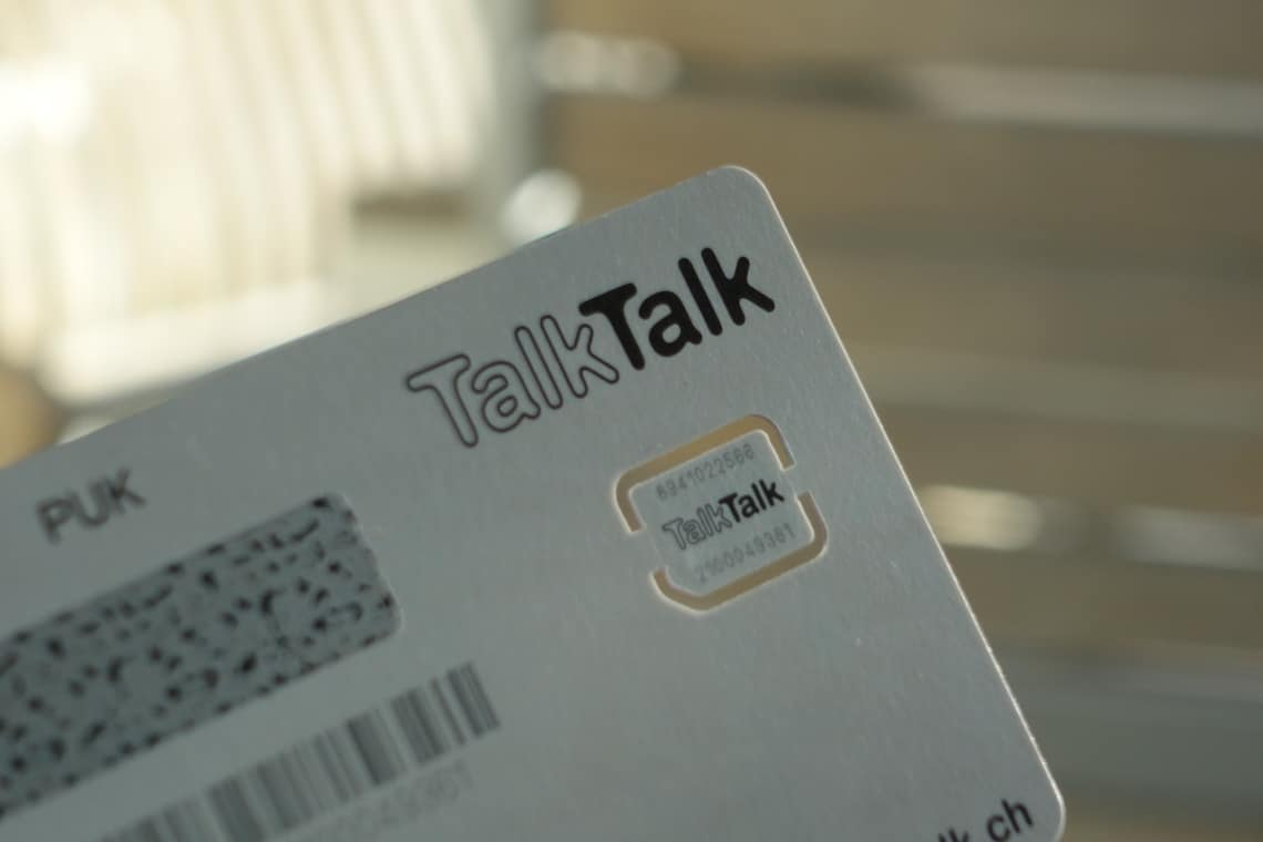 TalkTalk NANO SIM Karte