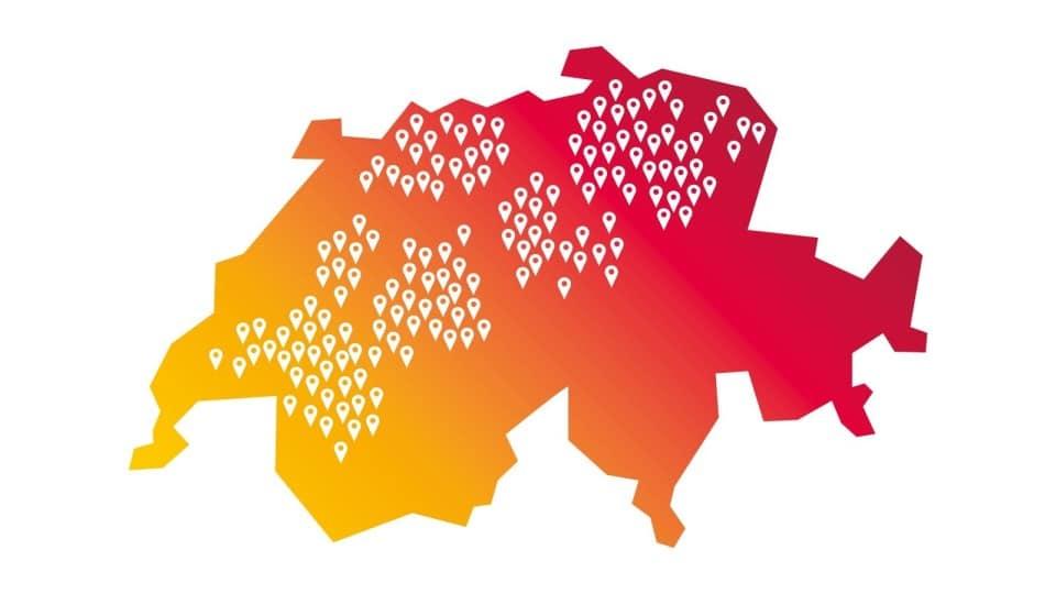 5G bei Sunrise in 150 Städten