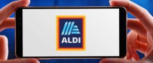 Handy mit Aldi Logo